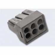 Клеммник WAGO 6 (одножильных) х 0,75-2,5 мм2 24-16A Cu/Al (Арт. 773-306)
