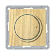 Диммер поворотно-нажимной (630Вт, сосна)