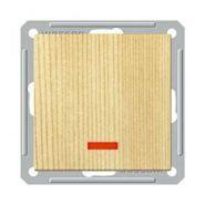 Переключатель 1-о клавишный перекрёстный с индикатором (250В, 16А, сосна)