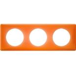 Legrand Celiane2 Рамка на 3 поста, оранжевый муар