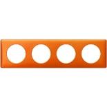 Legrand Celiane2 Рамка на 4 поста, оранж пунктум