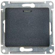 SE Glossa Антрацит Мех Выключатель 1-клавишный с подсветкой сх.1а, 10AX