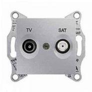 Розетка TV-SAT проходная 4 dB Sedna (алюминий)