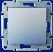 Двухполюсный выключатель одноклавишный 16А Sedna (алюминий)