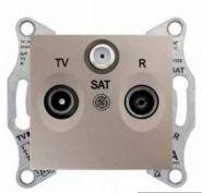 Розетка TV-R-SAT проходная 4 dB Sedna (бежевый)