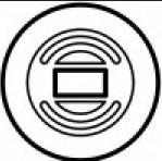 Накладка выкл. для управл. рольставнями програм. таймера белая(арт.68159)