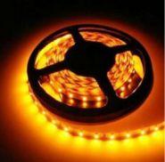 Светодиодная лента в силиконе 3528 12 V 4.8 W 60 LED (диодов) на 1 м желтая