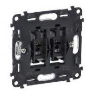 Механизм Выключатель кнопочный двухклавишный, НО/НЗ контакт, безвинт.зажим
