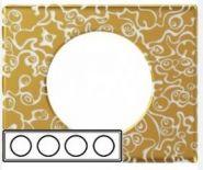 Рамка Legrand Celiane 4 поста фарфор Золотая Феерия (арт.69334)