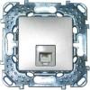 Телефонная розетка Unica Top 1хRJ11 (4 контакта) цвет Алюминий