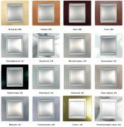Рамки Unica Top с алюминивыми вставками