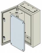 Шкаф ABB SR с монтажной панелью 700х500х200 серый IP65 с металлической дверью