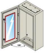 Шкаф ABB SR с монтажной панелью 600х400х250 серый IP65 со стеклянной дверью