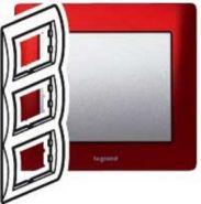 Рамка Legrand Galea Life 3 поста верт. Magic Red (арт.771907)